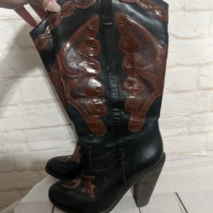 Jessica Simpson cowgirl boots heels 6.5